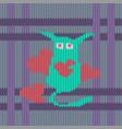 strange long eared cute creature vector image vector image