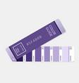 ultra violet palette guide vector image