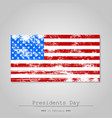 united states flag shabby on a gray background vector image