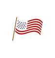 usa flag graphic design template isolated vector image