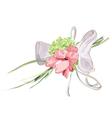 Wedding floral decor vector image