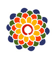 Colorful Lotus and Zen circle vector image