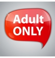 Warning Adult Only for xxx concept vector image