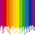 colorful stripes painting with drops vector image