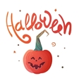 Halloween poster with Pumpkin and inscription vector image