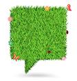 Speech bubble green grass texture background vector image