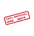 100 Percent Natural Ingredients Text Rubber Stamp vector image