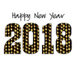 2018 with gold garland pattern vector image vector image