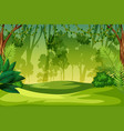 a green jungle landscape vector image vector image