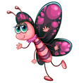 A pink butterfly vector image vector image
