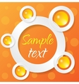 Abstract applique on color background vector image