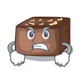 angry homemade sweet cake with almonds and cream vector image