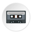 audio cassette icon circle vector image vector image
