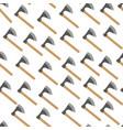ax metal axe equipment with wooden handle vector image