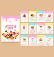 bakery desserts calendar 2018 template vector image vector image