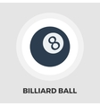 Billiard ball flat icon vector image