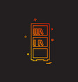 books shelf icon design vector image