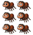 brown spider with different emotions vector image vector image