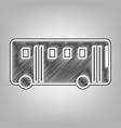 bus simple sign pencil sketch imitation vector image vector image