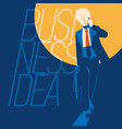 businessman with light bulb instead head idea vector image vector image