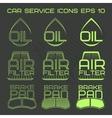 Car service icons web button vector image vector image