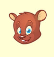 cartoon bear head vector image vector image