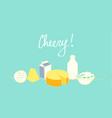 cheesy cheerful set vector image vector image