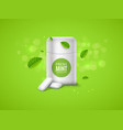 chewing gum package box and green mint for vector image