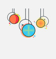 christmas balls in the memphis style geometric vector image vector image