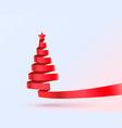 christmas tree tape design banner art decoration vector image vector image