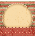 Christmas vintage paper background or frame Red vector image vector image
