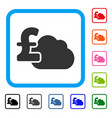 cloud pound banking framed icon vector image vector image