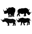 collection of images of rhino vector image vector image