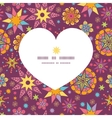 colorful stars heart silhouette pattern frame vector image vector image