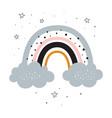 cute cartoon rainbow for baprint vector image