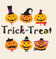 cute pumpkin doodle vector image vector image