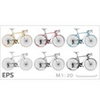 cycle icons set for architectural drawing vector image