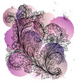 decorative stylized heart vector image vector image