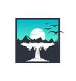 design trip to mountain vector image
