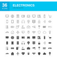 electronics line web glyph icons vector image vector image