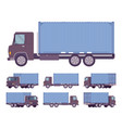 euro truck with blue metal container vector image