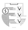financial audit line icon vector image vector image