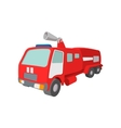 Fire truck cartoon icon vector image vector image