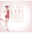 flappergirls retroparty2-01 vector image vector image
