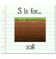 Flashcard letter S is for soil vector image vector image