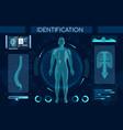 futuristic identification process flat vector image vector image