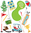 golf icons and elements vector image vector image