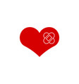 heal heart icon graphic design template vector image vector image