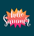 hello summer background fun vector image vector image