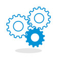 icon of a gears for website or mobile application vector image vector image